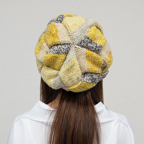 画像1: 【レシピ】バスケット編みのベレー帽 (1)