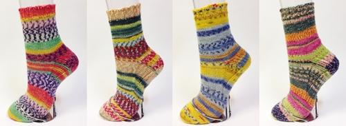 手編み靴下作品集